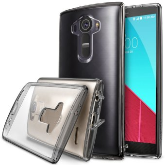 LG G4 Ringke Fusion Shock Absorption Bumper Hybrid Case [Free HD Screen Protector] (Smoke Black) Price Philippines