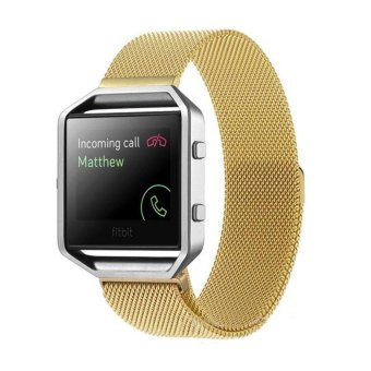 leegoal Milanese Stainless Steel Strap Wrist Band + Metal Frame For Fitbit Blaze Watch Price Philippines