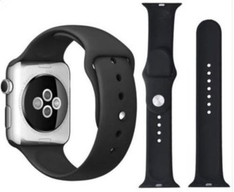 Sport Silicone Bracelet Strap Band For Apple Watch iwatch 42mm (Black) Price Philippines