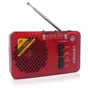 Harga Leotec LT-511UC Palmheld Rechargable FM/MW/SW Radio MP3 Music Play