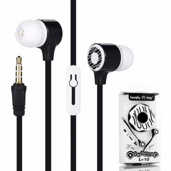 Lovely Me Doughnut L-10 96dB In-Ear Headphone Mic with Earphone Pouch (Black) Price Philippines