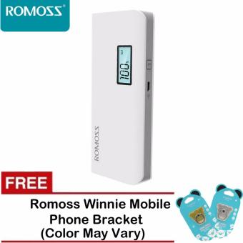 Harga Romoss Sense 4 Plus 10400mAh LCD Display Power Bank (White) with Free Romoss Winnie Mobile Phone Bracket (Color May Vary)
