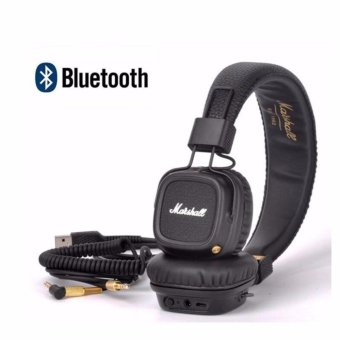 Harga Marshall Major II Bluetooth Wireless Foldable Headphones with Built-in Microphone and Remote - intl
