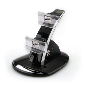 OEM Dual Charger Charging Stand untuk Sony Playstation 3 - Biru Price Philippines