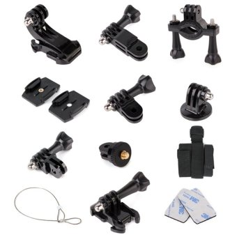 Harga Sports DV Fitting Monopod Mount Kit for Go Pro Hero and SJCAM SJ4000/SJ5000 Action Sports Cameras (Black)