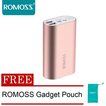 Harga Romoss ACE 10000mah Metal Powerbank (Pink) with FREE Romoss Gadget Pouch