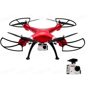Harga Syma X8HG Headless Mode 2.4G 4CH 6Axis Remote Control Quadcopter (Red)