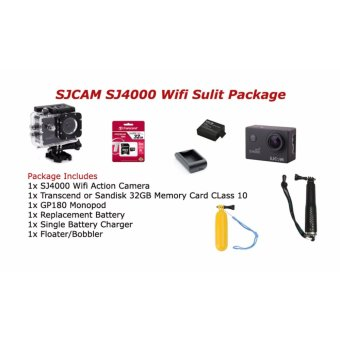 Harga SJCAM SJ4000 Wifi Sulit Package