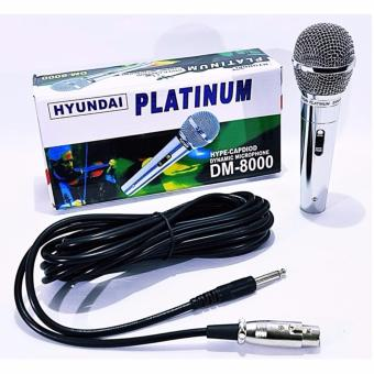 Hyundai Platinum Gold DM-8000 Dynamic Microphone (Silver) Price Philippines