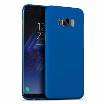 Harga LUOWAN Galaxy S8 Case Smoothly Skin Shockproof Ultra Thin Slim Full Body Protective Cover For Samsung S8 5.8-inch(Blue)