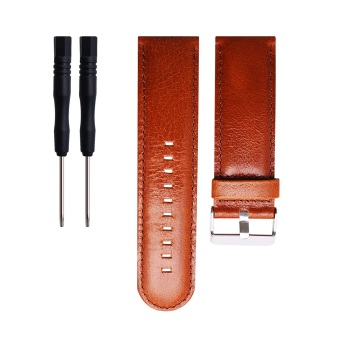 Leather Wrist Watchband Strap for Garmin D2 Fenix Fenix2 Fenix3/HR Quatix Quatix3 Tactix GPS watch in Brown - intl Price Philippines