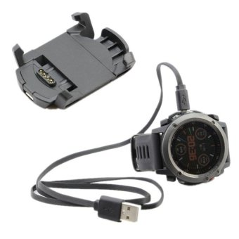 Charging Cradle Dock Charger Line for Garmin Fenix 3 GPS Watch(Black) - intl Price Philippines
