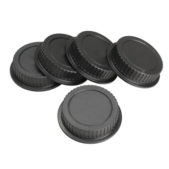 Harga 5Pcs Rear Lens Cap Dust Cover for Canon EF ES-S EOS Series Lens Black - intl