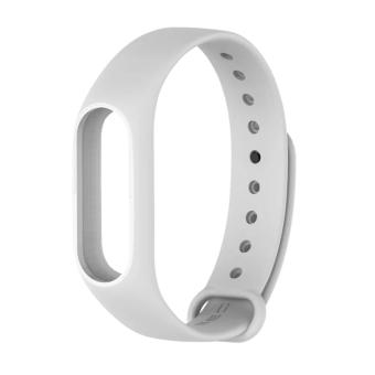 Harga Original Mijobs Replace Strap for Xiaomi Mi Band 2 Version MiBand 2 Silicone Wristbands for Mi Band 2 Smart Bracelet for Xiao Mi Band 2 – White - intl