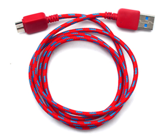 TECH GEAR Woven Fabric Data Cable for Samsung Galaxy Note 3 (Red) Price Philippines