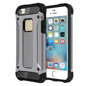 Tough Armor TPU + PC Combination Case for iPhone SE / 5SE(Grey) - intl Price Philippines