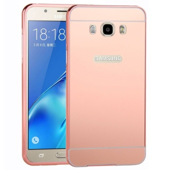 Moonmini Metal Frame Bumper Case for Samsung A8(Rose Gold) Price Philippines