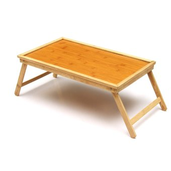 Foldable Wooden Bamboo Bed Tray Breakfast Laptop Desk Tea Serving Table Stand - intl Price Philippines