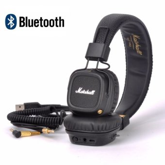 Harga Marshall Major II Bluetooth Headphones Wireless Headset Foldable with Built-in Microphone and Remote - intl