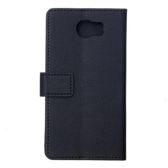 Harga Cass Leather Flip Case with Card Slot for Blackberry Priv (Black) - intl
