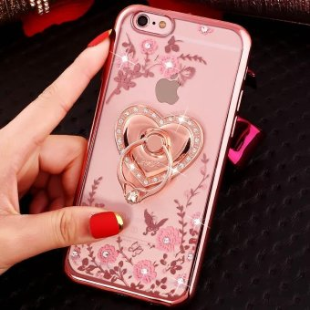 Soft Phone Case Lady Phone Cover For iPhone 7 Plus With Ring Holder - intl Price Philippines
