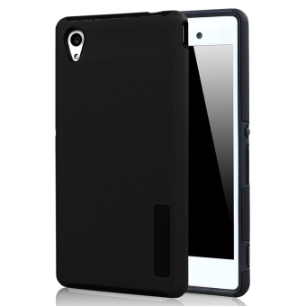 Moonmini Hybrid Combo Shockproof Back Case Cover for Sony Xperia M4 Aqua - Black Price Philippines