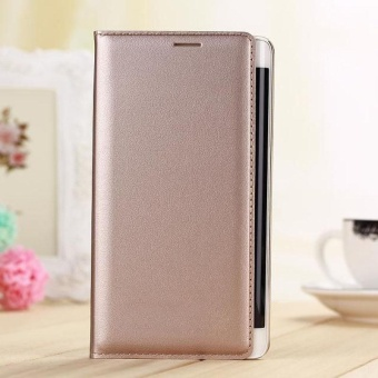 Luxury Flip Leather Case Cover for Samsung Galaxy Note Edge N9150 Gold(Gold) - intl Price Philippines