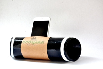 Harga EcoSpeaker Bamboo Docking Station (Black/Green)