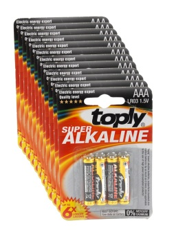 Toply LR03 Alkaline AAA Battery 1.5V Pack of 12 Price Philippines