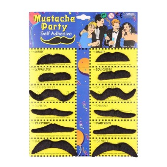 OH Fake Beard Mustache Set Stylish Costume Party Dress Fancy Fun Moustache Gift Price Philippines