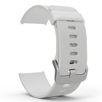 Miimall Soft Silicone Adjustable Replacement Sport Strap Band for Fitbit Blaze Smart Fitness Watch (White) Price Philippines