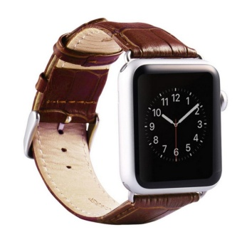 Apple Watch Band - iWatch Bands 42mm Genuine Leather Strap iPhone Watch Band Bracelet Replacement Wristband with Stainless Steel Adapter Metal Clasp for Apple Watch Series 2 1 - intl Price Philippines
