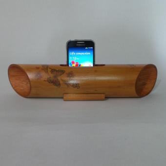 Harga Speaker Long Bamboo Butterfly Design (Light Cherry)