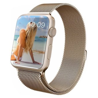 Magnetic Loop Stainless Steel Watch Bands Strap For Apple Watch iWatch 38mm antiquegold Price Philippines