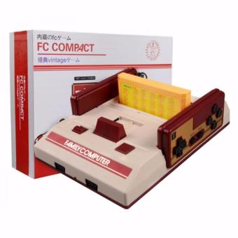 Family Computer FC Compact Vintage Game Console Built in 100 Games and 132 in1 Game Cartridge (Red/Off-White) Price Philippines