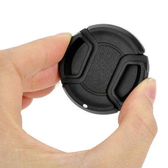 Protective Universal 40.5mm Lens Cover w/ Rope for SLR Sony + Nikon + Olympus Camera - Black Price Philippines