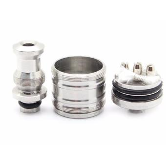 Trident Stainless Steel RDA Rebuildable Atomizer SILVER Price Philippines
