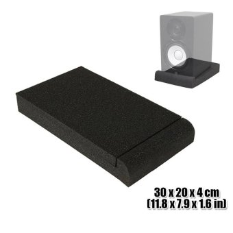 New Studio Monitor Speaker Isolation Pad Sound Absorption Foam 30 x 20 x 4 cm KK1108 - intl Price Philippines