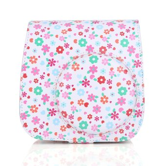 Harga Leather Instax Mini8 Camera Case Bag Protector For Fujifilm Polaroid (Flower ) - Intl
