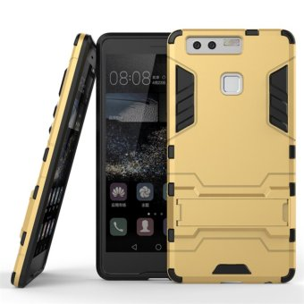 Harga RUILEAN TPU + PC Shockproof Stand Case for Huawei P9 (Gold)