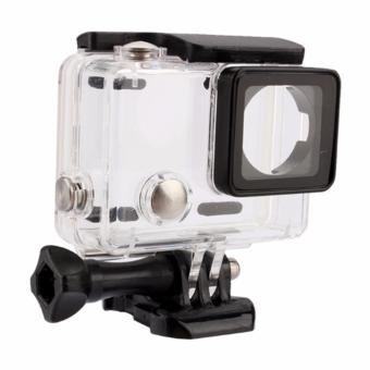 Harga Transparent Waterproof Case Housing for GoPro Hero 3/3+ Hero 4 Action Camera (Clear)