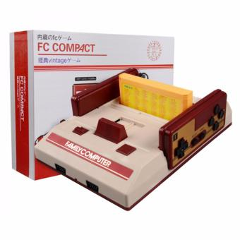 Family Computer FC Compact Vintage Game Console Built in 100 Games and 132 in 1 Game Cartridge (Red/Off-White) Price Philippines