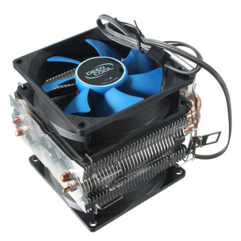Dual Fan CPU MIni Cooler Heatsink for Intel LGA775/1156/1155 AMD AM2/AM2+/AM3 - Intl Price Philippines