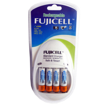 Fujicell FUJI-200S/4B Auto Volt Standard Charger for AA/AAA Ni-Cd with 4 Pieces of 2400mAh Battery Price Philippines