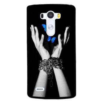 Y&M Blue Butterflies and Hands LG G3 Phone Case (Multicolor) Price Philippines