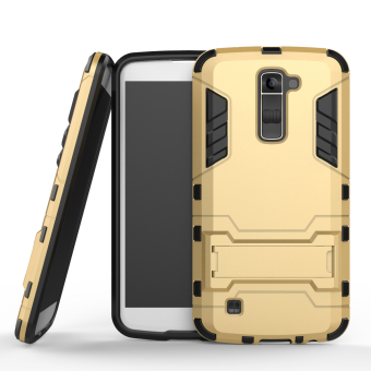 Harga RUILEAN Hybrid Armor Dual Layer TPU + PC Shockproof Stand Case for LG K10 (Gold)