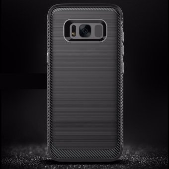 Harga 2017 Up version Phone Cover Soft Case Wire Drawing Silicone TPU Full Protective for Samsung Galaxy S8 Plus Anti-sweep anti-fingerprint - intl