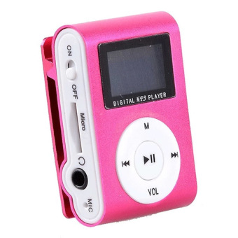 Harga Auxis mp3red USB LCD Screen Digital MP3 Player (Red)