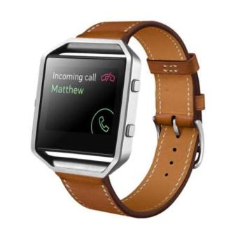 YBC PU Leather Watch Band Wrist Strap For Fitbit Blaze Smart Watch - intl Price Philippines