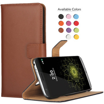Harga RUILEAN Flip Leather Case Cover for LG G5 Bookstyle Folio Wallet Pouch Kickstand Protective Case Brown